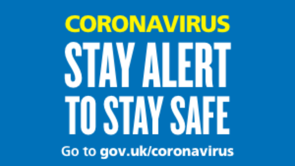 Stay Alert COVID messaging banner